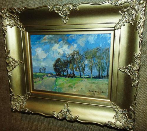 Rural Scene Oil on Board by W.B.Lamond (1 of 6)