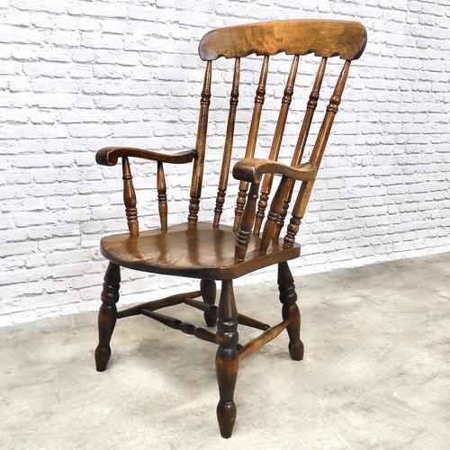 Large Victorian Windsor Spindleback Armchair (1 of 5)