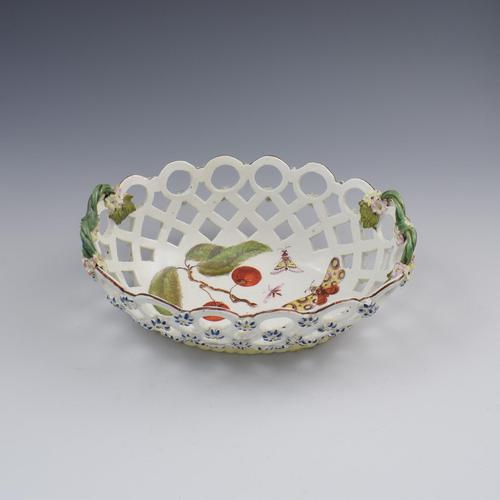 Fine Derby Porcelain Spectacle Basket c.1760-1765 (1 of 13)