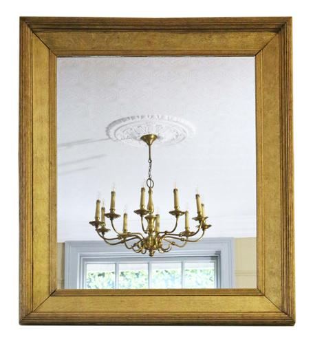 19th Century Overmantle Gilt Wall Mirror (1 of 8)