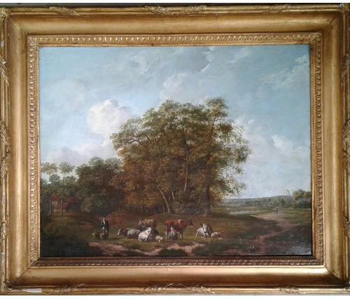 E Van Drielst, A 19th Century Oil on Panel Landscape (1 of 6)