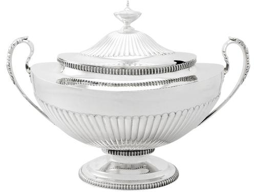 Sterling Silver Soup Tureen - Adams Style - Antique Victorian (1 of 12)