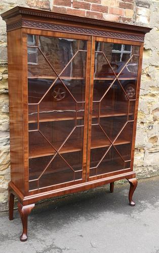 Chippendale Style Glazed Mahogany Bookcase (1 of 10)