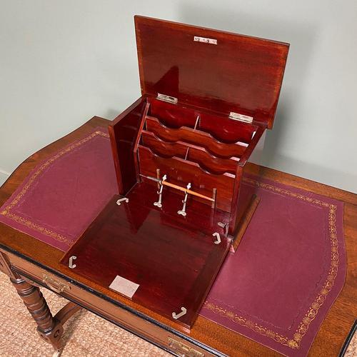 Inlaid Edwardian Mahogany Antique Writing Slope / Box (1 of 4)