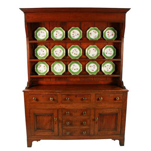 Georgian Oak Dresser & Rack (1 of 8)