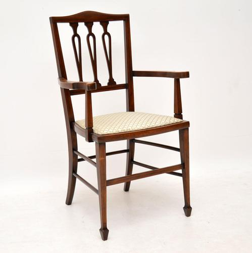 Antique Edwardian Mahogany Armchair (1 of 10)