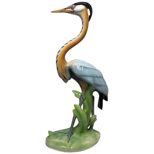 Collectible Italian Elegant Beautiful Porcelain Crane Bird Ornament Signed (1 of 21)