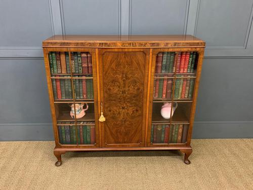 Burr Walnut Bookcase/Side Cabinet (1 of 15)