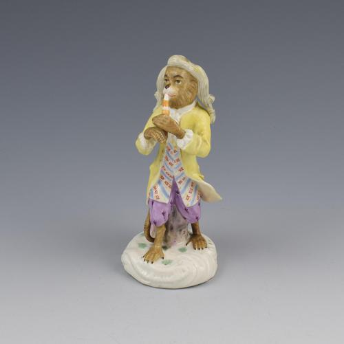 Dresden Porcelain Monkey Band Figure Clarinet Player (1 of 7)