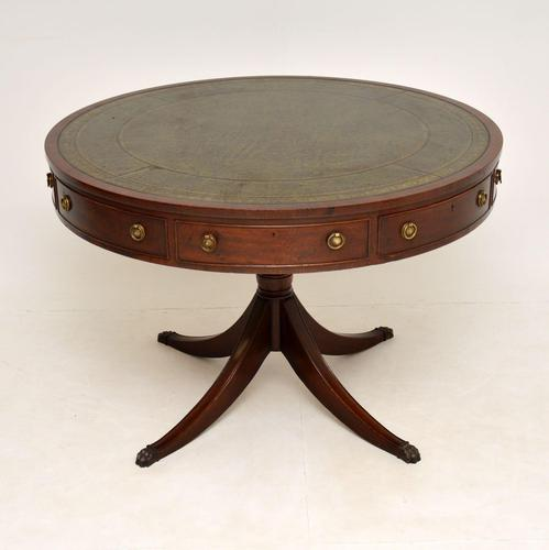Antique  Regency  Style Mahogany & Leather Drum Table (1 of 10)