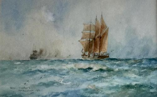 William Minshall Birchall Watercolour 'Ocean Travellers' (1 of 2)