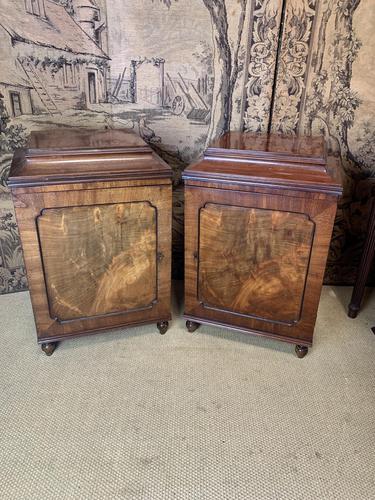 Pair of Mahogany Pedestal Cabinets (1 of 5)