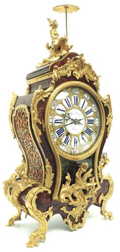 Outstanding Martinto Paris French Boulle Mantle Clock Ormolu Dragons Chinese Rider (1 of 10)