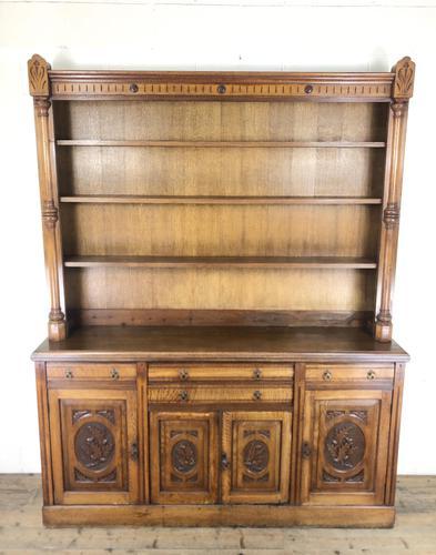 Early 20th Century Antique Oak Dresser (1 of 16)