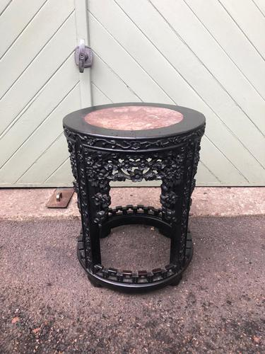 Antique Oriental Chinese Marble Top Stand (1 of 5)