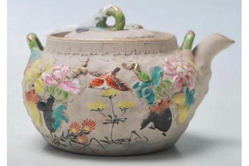 Antique Japanese Clay Teapot (1 of 5)