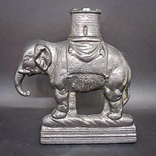 Cast Iron Elephant & Castle Doorstop (1 of 4)