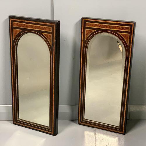 Pair of Amboyna & Ebonised Pier Mirrors (1 of 9)