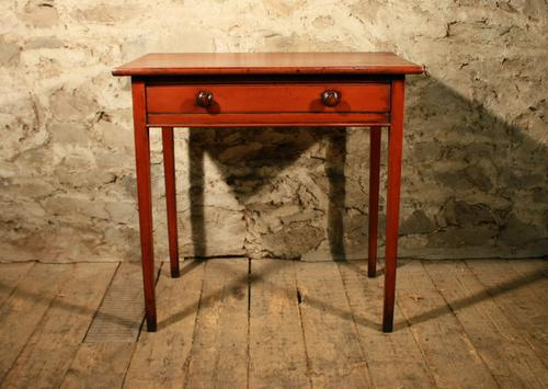 Painted Pine Side Table c.1870 (1 of 5)
