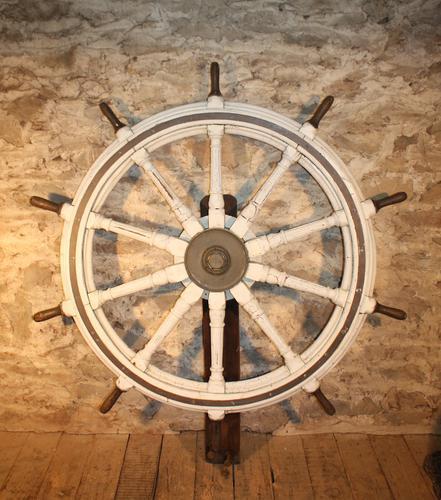 Huge Painted Ships Wheel c.1850 (1 of 4)