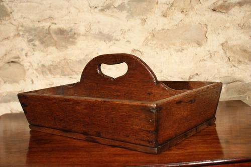 Oak Cutlery Tray c.1890 (1 of 3)