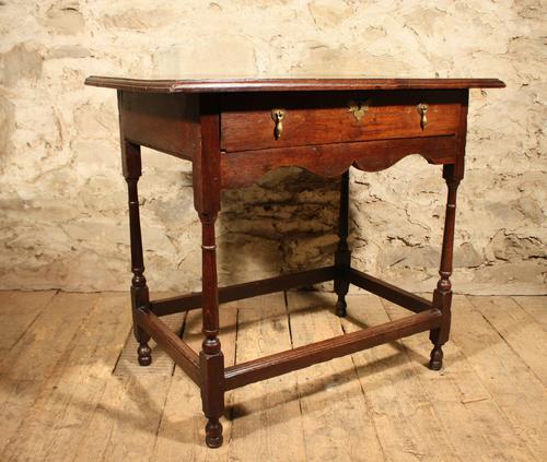 18th Century Oak Side Table (1 of 7)