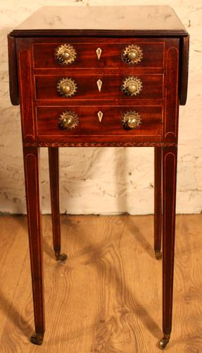Scottish Mahogany Side Table / Work Table (1 of 1)