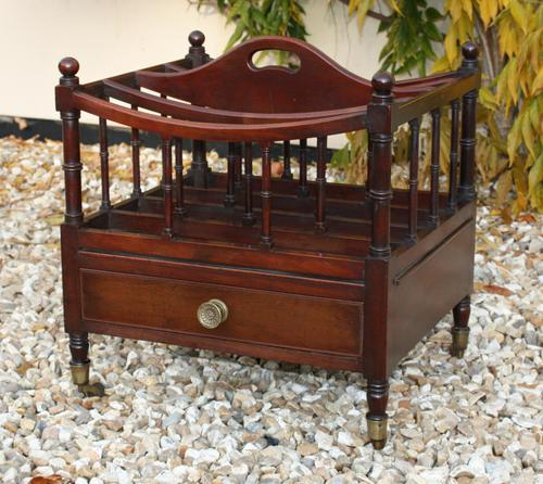 19th Century Mahogany Canterbury c.1850 (1 of 1)