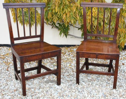 Pair of Oak Country Chairs c.1800 (1 of 1)