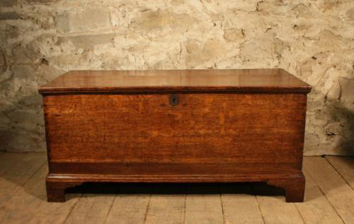 Georgian Oak Chest Trunk c.1830 (1 of 1)