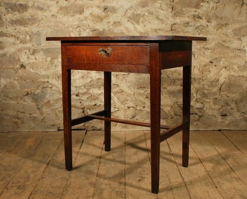 Georgian Oak Side Table (1 of 1)