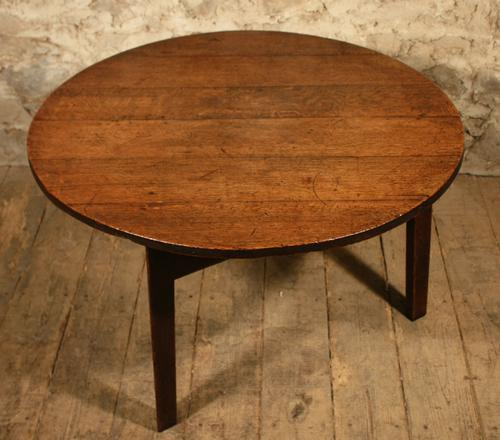 Georgian Round Oak Cricket Table (1 of 1)