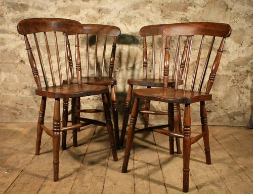 4 Kitchen Chairs c.1900 (1 of 1)