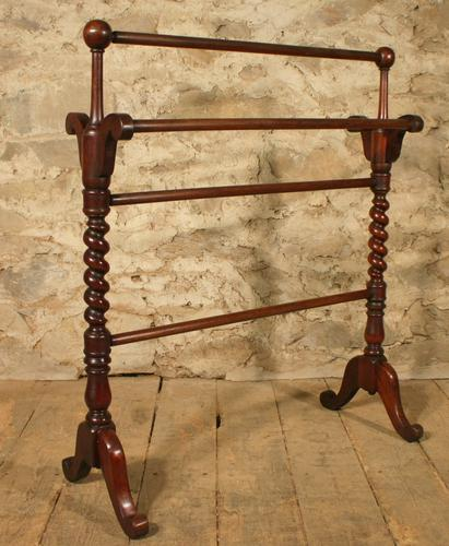 Mahogany Towel Rail (1 of 1)