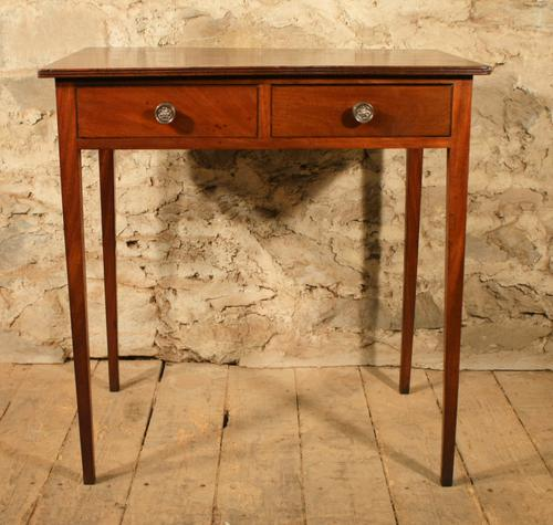 Mahogany 2 Drawer Side Table (1 of 1)