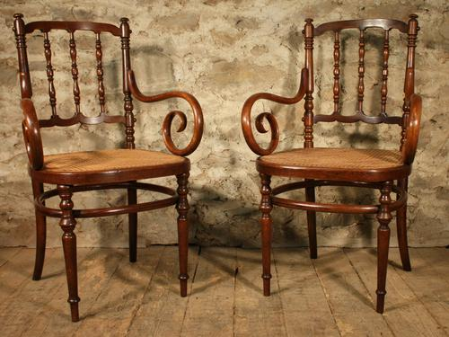 Pair of Bentwood Armchairs c.1930 (1 of 1)