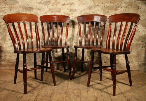 4 Kitchen Chairs c.1870 (1 of 1)