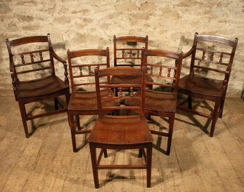Set of 6 Country Chairs C.1820 (1 of 1)
