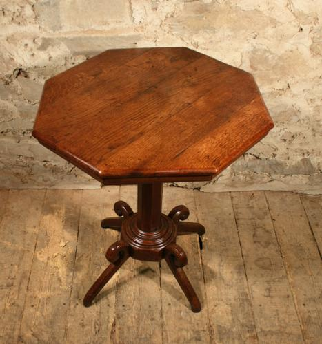 Oak Lamp Table c.1880 (1 of 6)
