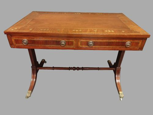 Excellent Quality Brass Inlaid Mahogany Sofa Table (1 of 7)
