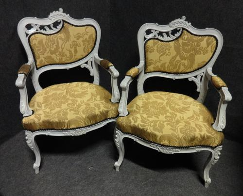 Pair of French Fauteuil Armchairs c.1880 (1 of 6)