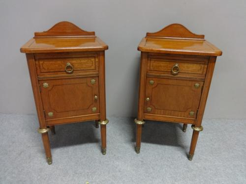 Pair of Super Satinwood Bedside Cabinets c.1890 (1 of 7)