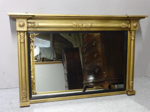 English Gilt Overmantle Mirror c.1830 (1 of 4)
