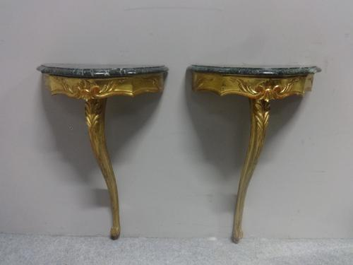 Pair of Gilt Console Tables c.1920 (1 of 7)