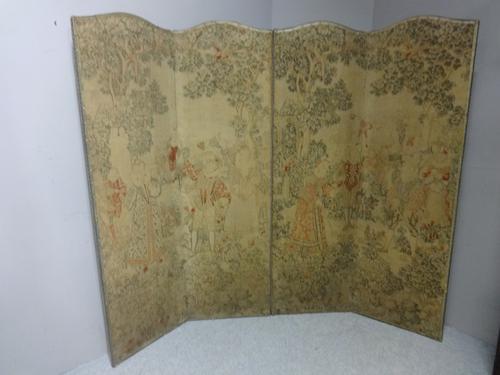 Period Four Fold Screen c.1850 (1 of 5)