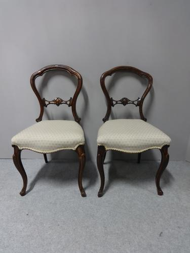 Pair of Victorian Walnut Hall Chairs (1 of 7)