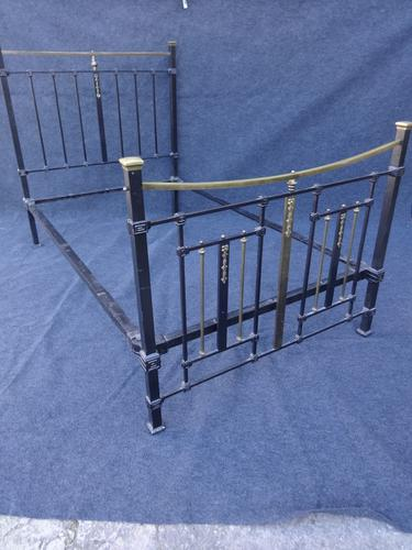 Victorian Brass and Iron Bed c.1860 (1 of 1)