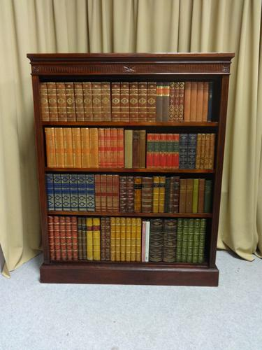 Top Quality Victorian Mahogany Open Bookcase (1 of 8)