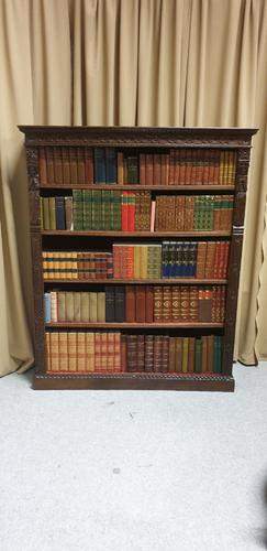 Wonderful Victorian Adjustable Library Bookcase (1 of 8)