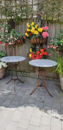 Pair of Zinc Topped Conservatory Tables c.1900 (1 of 4)